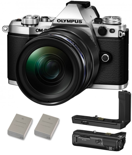 Olympus OM-D E-M5 Mark II Kit 12-40/2,8 + HLD‑8 Power Kit + BLN-1 Zusatzakku